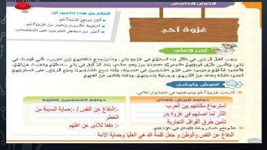 Photo of صور حل درس غزوة أحد تربية إسلامية الصف السادس الفصل الثالث