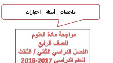 Photo of مراجعة الفصل الثاني والثالث علوم صف رابع