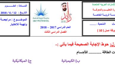Photo of مراجعة شاملة علوم يتبعها الحل صف ثالث فصل ثالث