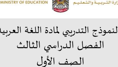 Photo of نموذج امتحان تدريبي لغة عربية صف أول فصل ثالث