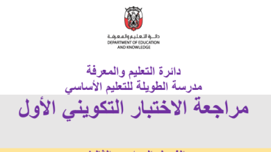 Photo of نماذج تدريبية لغة عربية صف ثالث فصل ثالث