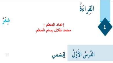 Photo of حل درس ابسمي الصف السادس لغة عرببية الفصل الثاني