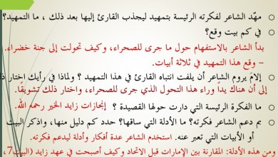 Photo of شرح قصيدة شيخ العرب للصف العاشر الفصل الثالث