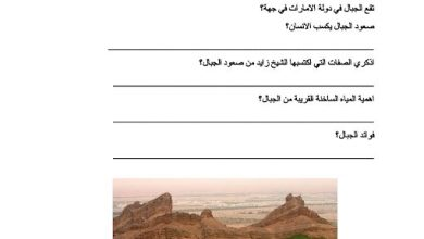 Photo of ورقة عمل بلادي الشامخة دراسات اجتماعية صف أول فصل ثالث