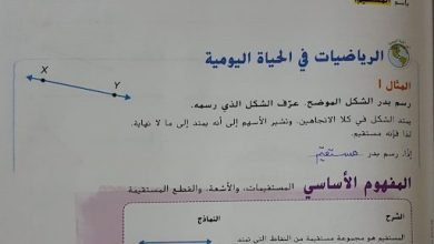 Photo of حل وحدة الهندسة رياضيات صف ثالث فصل ثالث