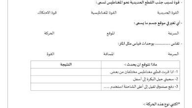 Photo of أوراق عمل القوة علوم صف ثالث فصل ثالث