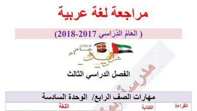 Photo of مراجعة لغة عربية صف رابع فصل ثالث