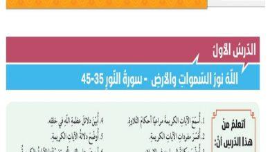 Photo of حل درس الله نور السموات والأرض تربية إسلامية صف ثاني عشر فصل ثالث