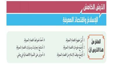 Photo of حل درس الإسلام واقتصاد المعرفة تربية إسلامية صف ثاني عشر فصل ثالث