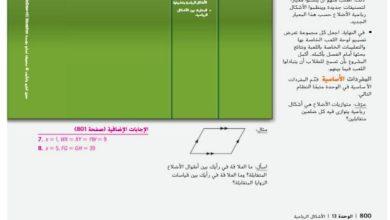 Photo of صف تاسع متقدم فصل ثالث دليل رياضيات الوحدة 12