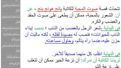 Photo of صف خامس فصل ثالث اللغة العربية استجابة أدبية لدروس (صوت المحبة – تواق في مهب الرياح – أنا حر)