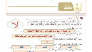 Photo of اجابة درس أسلوب النهي لمادة اللغة العربية الصف السابع