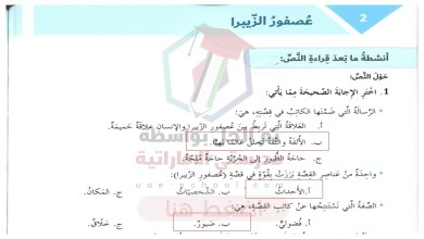 Photo of حل درس عصفور الزيبرا سابع عربي