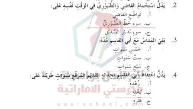 Photo of درس حذاء ابي القاسم الطنبوري مع الاجابات عربي سادس
