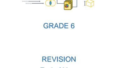 Photo of تدريبات شاملة نهاية الفصل الثالث رياضيات صف سادس