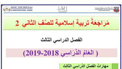 Photo of مراجعة تربية إسلامية صف ثاني فصل ثالث