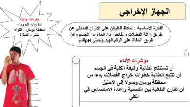 Photo of الجهاز الإخراجي أحياء صف تاسع متقدم فصل ثاني