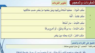 Photo of حل درس التصنيف والجماعات لغة عربية صف ثاني عشر فصل ثاني