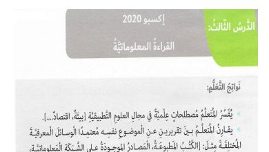 Photo of صف سادس فصل ثاني لغة عربية درس إكسبو 2020