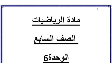 Photo of صف سابع فصل ثاني رياضيات ورق عمل ومراجعة الوحدة السادسة المعادلات والمتباينات
