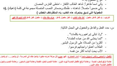 Photo of صف ثاني عشر لغة عربية ملخص النحو للفصل الثاني