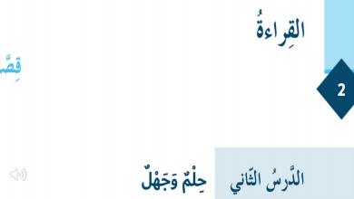 Photo of حل درس حلم وجهل لغة عربية صف سادس فصل أول