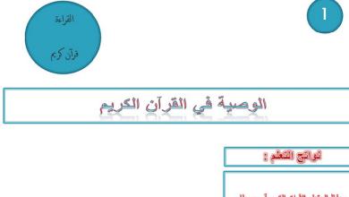 Photo of حل درس الوصية في القرآن الكريم لغة عربية صف تاسع فصل ثاني