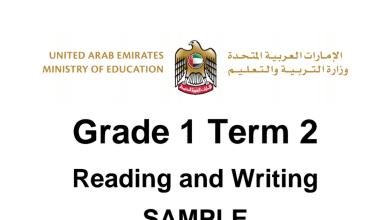 Photo of صف أول فصل ثاني نموذج اختبار لغة إنجليزية قراءة وكتابة