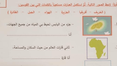 Photo of صف ثاني دراسات اجتماعية امتحان نهاية الفصل الأول 2018 مع الحل