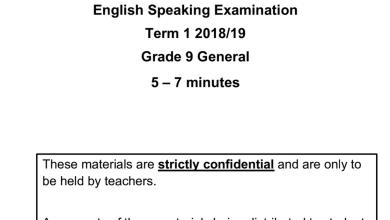 Photo of نموذج امتحان تحدث ثاني 2018 لغة إنجليزية صف تاسع فصل أول