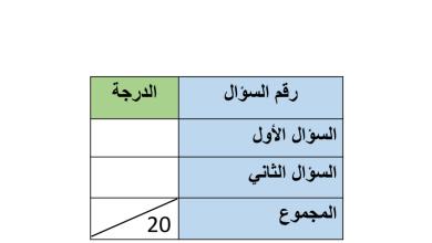 Photo of اختبار لغة عربية صف ثالث فصل ثالث