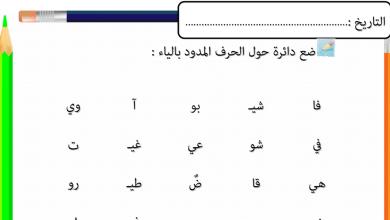 Photo of أول لغة عربية أوراق عمل المد بالياء