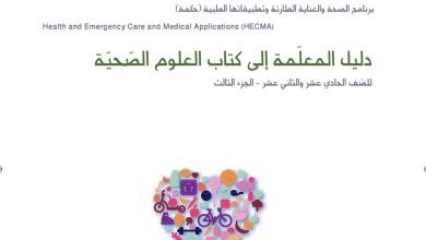 Photo of دليل المعلم علوم صحية محلول صف حادي عشر وثاني عشر فصل ثالث