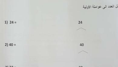 Photo of أوراق عمل الوحدة الثانية والثالثة رياضيات صف خامس فصل أول