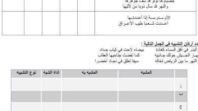Photo of تشبيه تمثيلي لغة عربية صف حادي عشر فصل أول