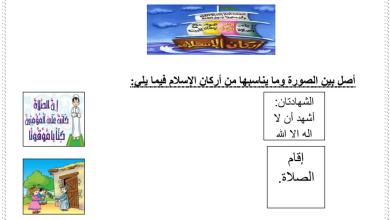 Photo of أوراق مراجعة تربية اسلامية فصل أول صف أول