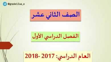 Photo of حل كل الدروس لغة عربية صف ثاني عشر الفصل الأول