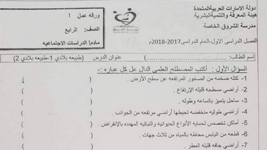 Photo of ورقة عمل درس طبيعة بلادي دراسات اجتماعية صف رابع فصل أول