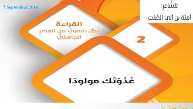 Photo of حل درس غذوتك مولوداً لغة عربية صف تاسع فصل أول