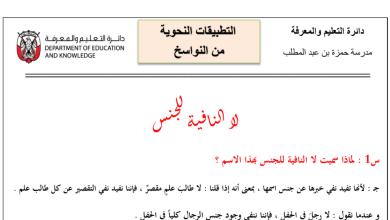 Photo of لا النافية للجنس لغة عربية فصل أول صف ثاني عشر