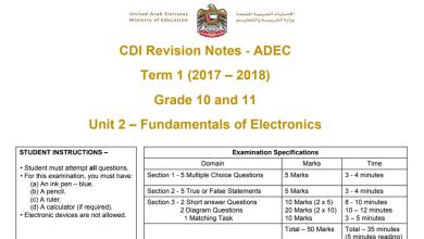 Photo of مراجعة الوحدة الثانية مادة الكمبيوتر فصل أول للصف العاشر والحادي عشر