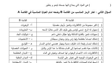 Photo of مراجعة الوحدة الثانية علوم فصل أول صف رابع