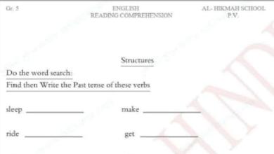 Photo of تدريبات قواعد لغة انجليزية صف خامس