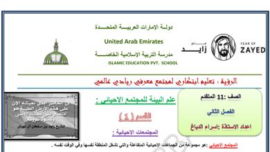 Photo of ملخصات لوحدة الاقاليم الاحيائية والانظمة البيئية أحياء للصف الحادي عشر