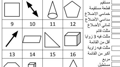 Photo of ورقة عمل (الهندسة) رياضيات للصف الثالث