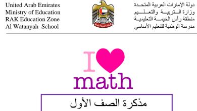 Photo of مذكرة عامة (الوحدة 8 – 9 – 10) رياضيات للصف الأول
