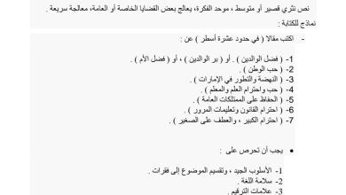 Photo of اللغة العربية تعبير كتابي (المقال) للصف السادس