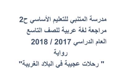 Photo of حل تمارين رواية رحلات عجيبة لغة عربية الصف التاسع فصل ثالث