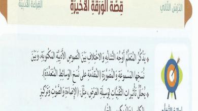 Photo of حل درس قصة الورقة الأخيرة لغة عربية صف سابع فصل ثالث