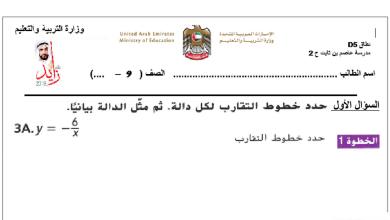 Photo of ورق عمل الدوال النسبية رياضيات صف تاسع فصل ثاني